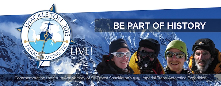 SHACKLETON LIVE! REACHES SOUTH POLE